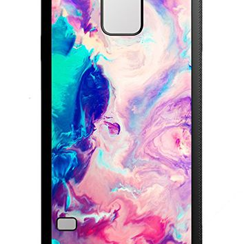 Colorful Pink Marble Watercolor Samsung Galaxy S5 Case Black