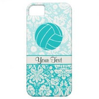 Teal Volleyball iPhone 5 Case from Zazzle.com