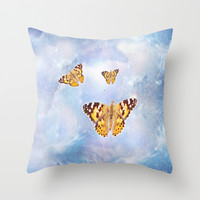 Butterfly Heaven Throw Pillow by Laureenr