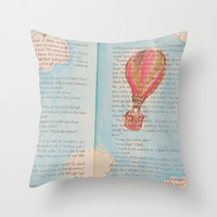Get lost in a book Throw Pillow by Courtney Burns
