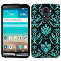 LG G3 Teal Damask on BLack Phone Case