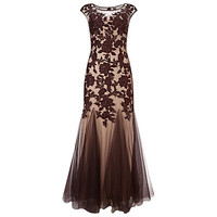 Buy Phase Eight Collection 8 Rita Tulle Dress, Oxblood | John Lewis