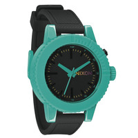 Nixon A2871060 Women's The GoGo Black Dial Black Rubber Strap Teal Plastic Watch