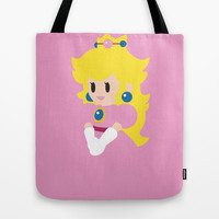 Princess Peach - Minimalist  Tote Bag by Adrian Mentus