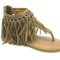 Xiomara Fringe Thong Sandals - Girl Sizes