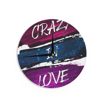 "Noonday Design ""Crazy In Love"" Magenta Painting Wall Clock"
