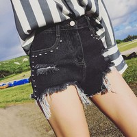 Pants Ripped Holes Denim Jeans [45274464281]