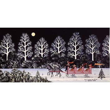 Trail Creek Sleigh Ride - Limited Edition Lithograph on Paper by Jane Wooster Scott