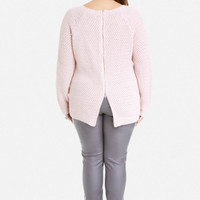 Plus Size Justine Zip Back Sweater | Fashion to Figure
