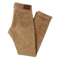 GN.04 SLIM FIT WAXED CANVAS PANTS - BRUSH BROWN