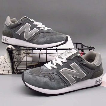 New balance Fashion Casual All-match N Words Breathable Couple Sneakers Shoes Dark Grey G-A36H-MY