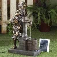 Children Filling Bucket | Solar Water Fountain | SAVE $110