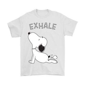 ESB3CR Practice Yoga Exhale Farting Funny Snoopy Shirts