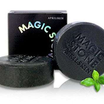 April Skin Magic Stone Natural Cleansing Soap Charcoal Soap Korea Beauty (Charcoal Natural Magic Stone Soap)