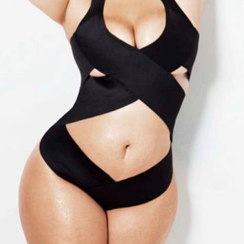 Plus size  Bandage swimsuit/ bathing suit one piece, bandage swimwear, Criss cross Top selling bathing suit