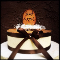 Rustic wedding cake topper wooden country fall winter weddings