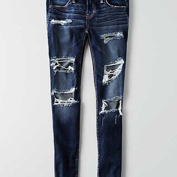 AEO Denim X Super Low Jegging, Darken Destroy