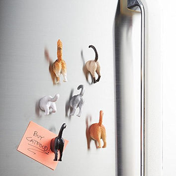 Cutie Cat Bum Magnets, Set of 6