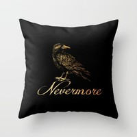 'Nevermore' Throw Pillow by Thealleycatemporium