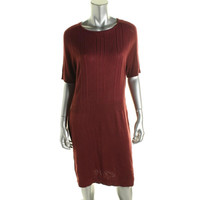 Marc New York by Andrew Marc Womens Knit Striped Sweaterdress