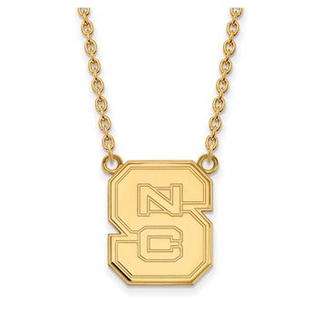 NCAA 14k Gold Plated Silver North Carolina Pendant Necklace