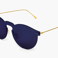 Leonard Mask With Metal Lenses With Midnight Blue Mirrored Lens