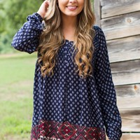 Big Skies Navy Print Dress
