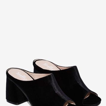 Shellys London Charolette Velvet Mule