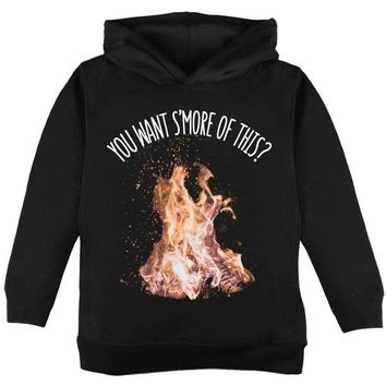 DCCKIS3 Autumn You Want S'more of This Bonfire Pun Toddler Hoodie