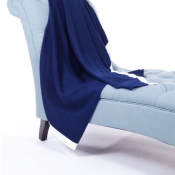 Cotton / Cashmere Contrast Banded Throw by Alashan