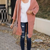 All Your Love Dusty Pink Cardigan