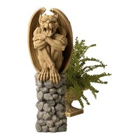 SheilaShrubs.com: Trystan, Gargoyle Sentry of the Night Sculpture NG33967 by Design Toscano: Garden Sculptures & Statues