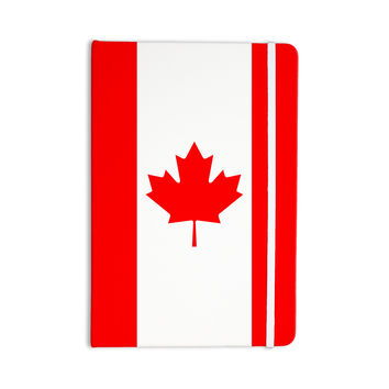 "Bruce Stanfield ""Flag of Canada"" Red White Everything Notebook"