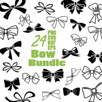 CHRISTMAS Bow svg cut files for Cricut, Silhouette and other Vinyl Cutting Machines, Vector Graphic Files, svg files,Illustrator Brushes