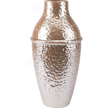 Pearl Yellow Textured Vase, Large