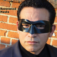 Leather masquerade mask - Rascal in black - Made to Order