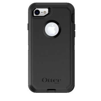 LMFON2D OtterBox DEFENDER SERIES Case for iPhone 8 & iPhone 7 (NOT Plus) - Frustration Free Packaging - BLACK
