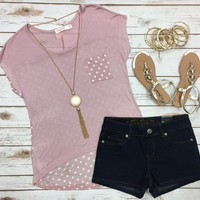 Pretty Polka Dot Tee: Pink