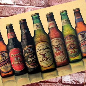 2017 Sale Quadros De Parede Attractive Beer Retro Posters Kraft Paper Adornment Picture Bar Hangs A Cafe Poster Painting Core