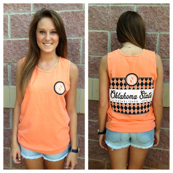 OSU monogram comfort colors tank top
