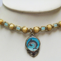 Grateful Dead Steal Your Dolphin Stealie Hemp Necklace Jewelry SYF Deadhead
