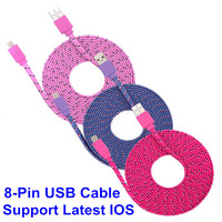 1M/2M/3M Colorful For Lightning USB Data Sync Charger Cable Micro USB Data Sync Charger Cable Cord Wire For iPhone 5 5s 6 6Plus