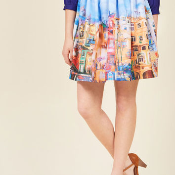 Novel Neighborhood A-Line Skirt