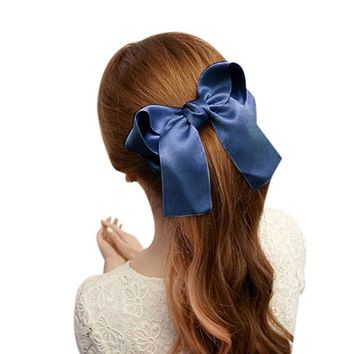 JECKSION Women Girls Cute Large Big Satin Hair Hair Clip Boutique Ribbon Bow #LSN