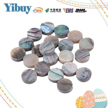 Yibuy 6mm Green Abalone Mother of Pearl Shell Fingerboard Dots with Inlay Material For Guitar Pack of 20