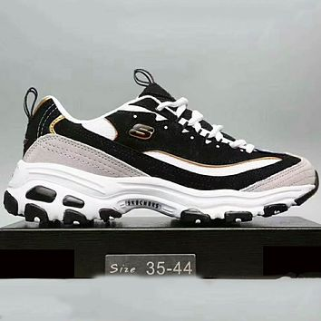 Skechers Fashion Casual Running Sports Sneakers Shoes Black+Grey G-XYXY-FTQ
