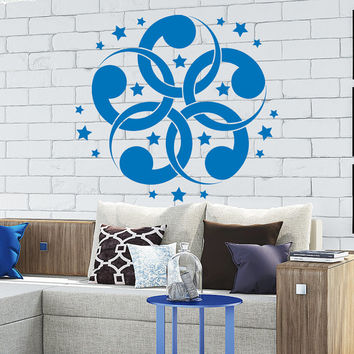 Flower Wall Decals Mandala Om Yoga Star Pattern Oum Sign Living Room Interior Vinyl Decal Sticker Art Mural Bedroom Kids Room Decor MR361