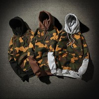 Korean Hoodies Plus Size Camouflage Jacket [429901316132]