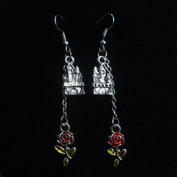 Factory Outlet Beauty and the Beast Earrings Hot Style