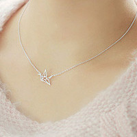 Origami Crane Necklace [Stainless Steel] from WANDERLUSTINY